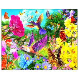 Diamond Painting-5D Full Drill Birds Flowers