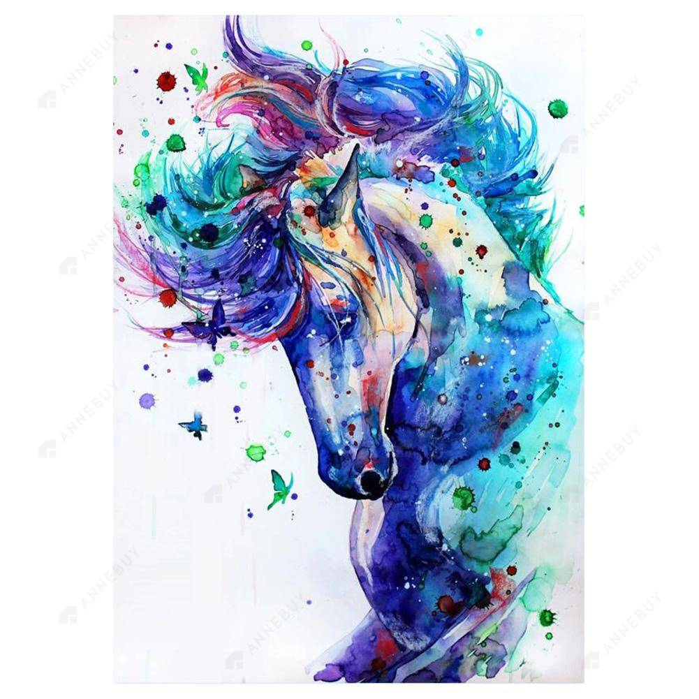Diamond Painting-5D Full Drill Novelty Horse