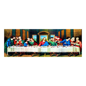 Diamond Painting-5D Full Round Drill The Last Supper(30*80 CM)