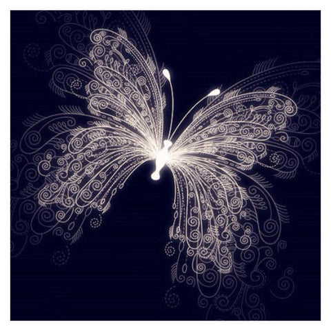 5D Full Drill-Light Butterfly Cross Stitch Embroidery