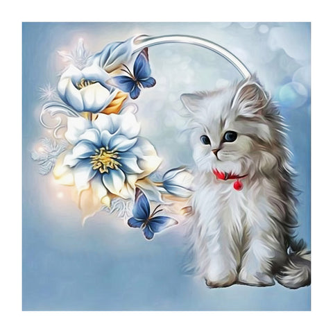 Diamond Painting-5D Full Drill Cat