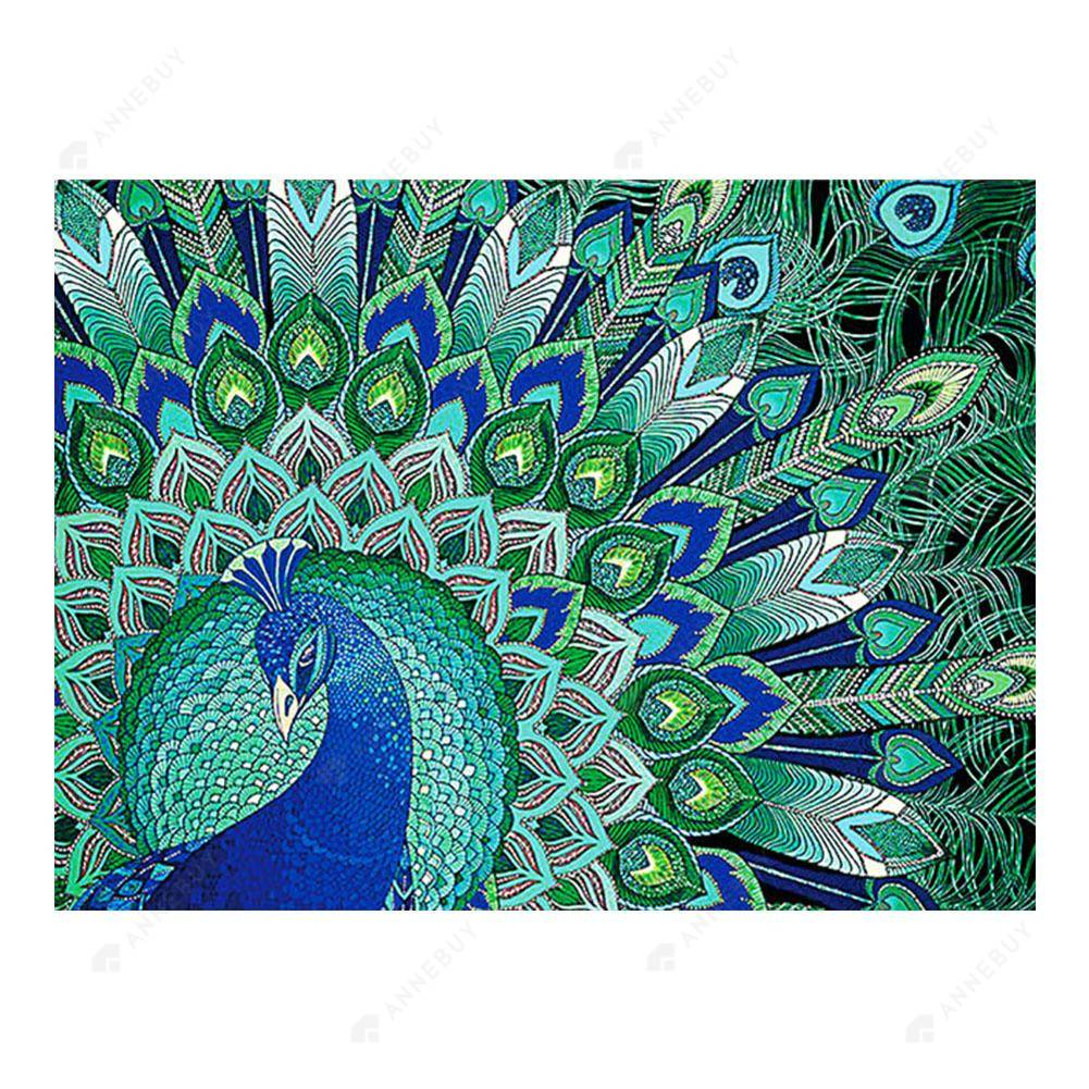 Diamond Painting-Special Shaped Partial Drill Peafowls