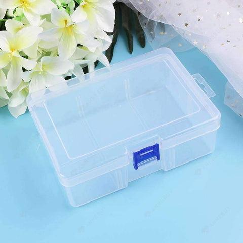 Drill Storage Box-Plastic Rectangular Clear Fashion Drill Storage Box