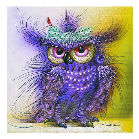 5D Full Drill-Purple Bird Cross Stitch Embroidery Kits
