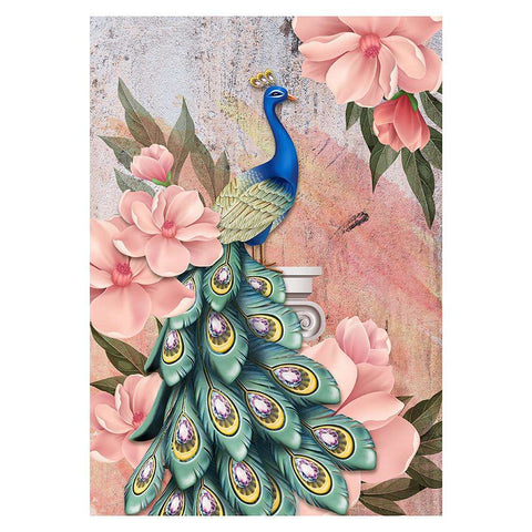 Partial Drill-Peafowl Cross Stitch Embroidery