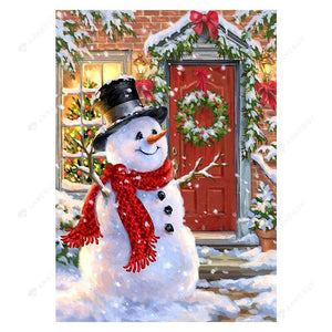 Diamond Painting-5D Full Drill Christmas Snowman