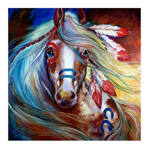Diamond Painting-5D Full Drill Tired Horse