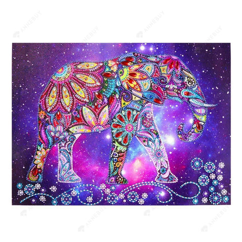 Special shaped Diamond-Partial Drill-Elephant Cross Stitch Embroider