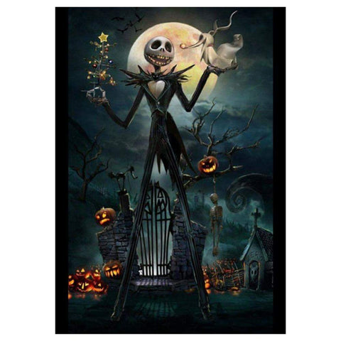 Diamond Painting- 5D Full Drill-Halloween Skeleton