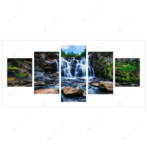 Diamond Painting- 5D Full Drill  5pcs Scenery