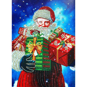 Diamond Painting-Special Shaped Partial Drill Santa Claus
