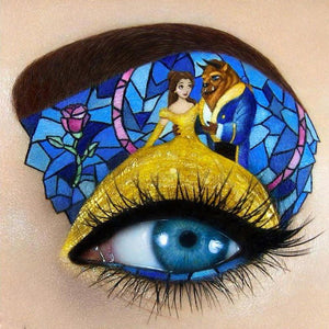 Diamond Painting-5D Full Round Drill Beast Girl Eye