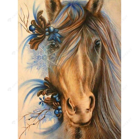 Diamond Painting-5D Full Drill Horse Heads