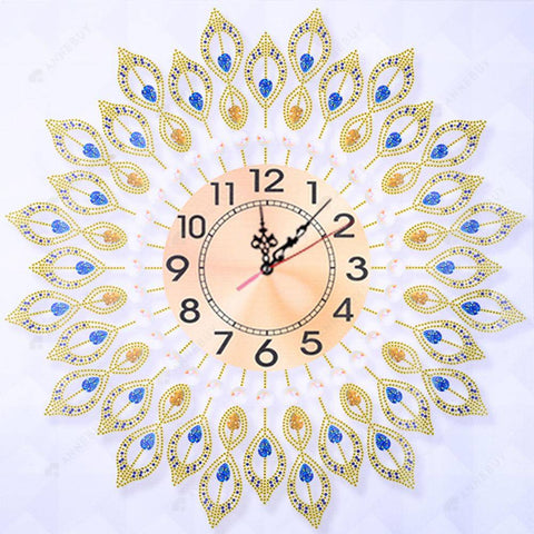 Diamond Painting-Special Shaped drill Water Drops Eyes Wall Clock