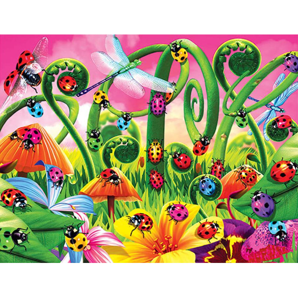 Diamond Painting-5D Full Round Drill Ladybug Insects