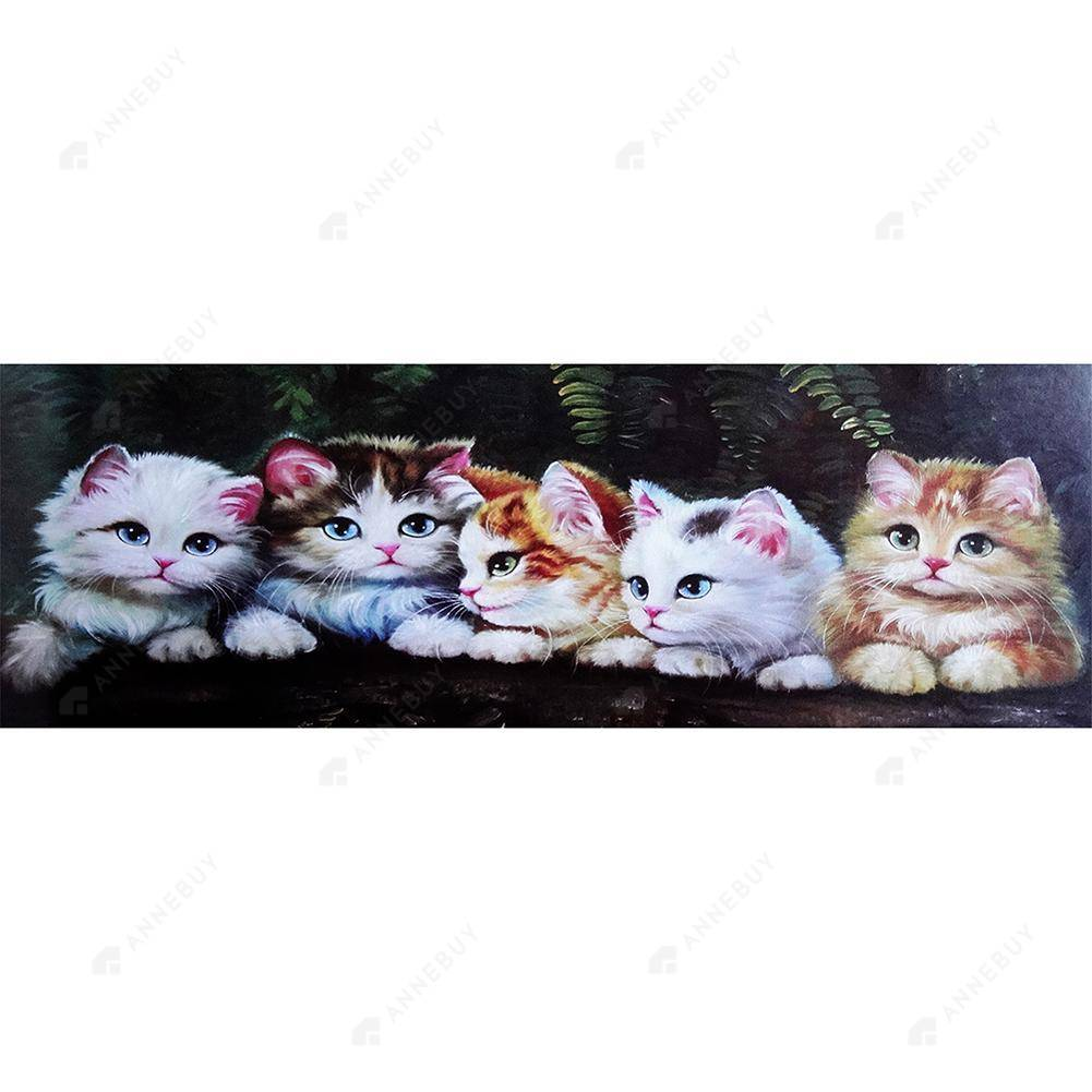 Diamond Painting-DIY Full Round Drill Cat Animal