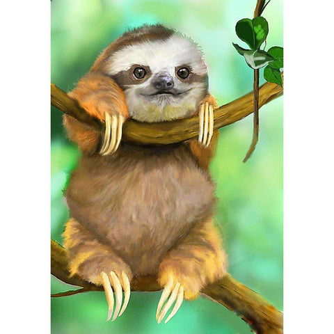 Diamond Painting-5D Full Round Drill Cute Sloth