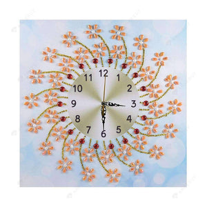 Diamond Painting-Special Shaped drill Sun Flower Wall Clock Crafts