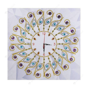 Diamond Painting-Special Shaped drill Flower Wall Clock Craft Embroider Decor