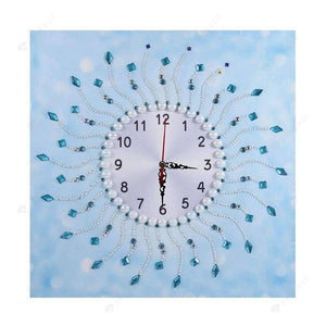 Diamond Painting-Special Shaped drill Sun Wall Clock Crafts Home Art Decor