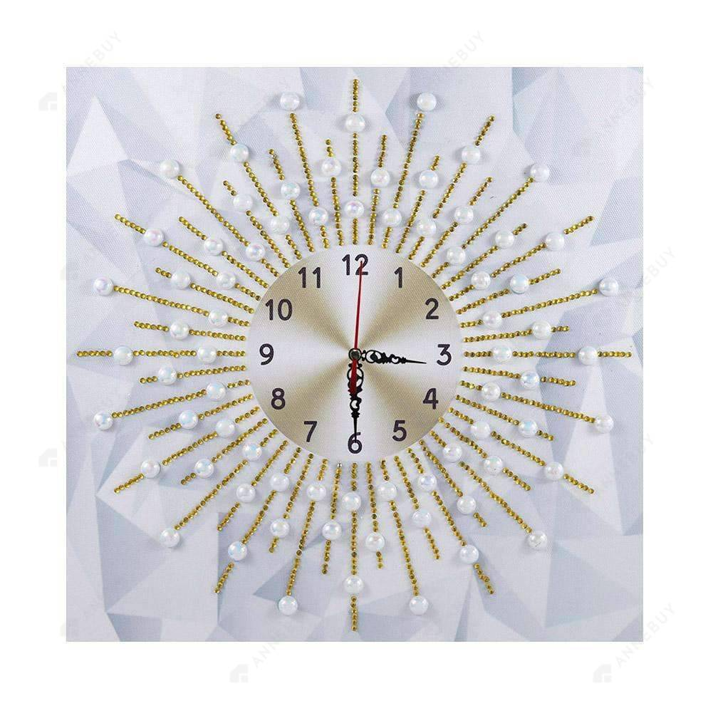 Diamond Painting-Special Shaped drill Sunshine Wall Clock Crafts Art Decor