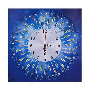 Diamond Painting-Special Shaped drill Novelty Flower Wall Clock Crafts Decor
