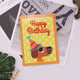 Cute DIY Happy Birthday Greeting Cards Diamond Painting Craft (1pc Yellow)