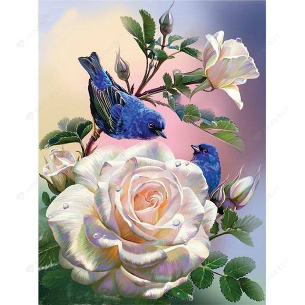 Diamond Painting-5D Full Square Drill Flower and Bird