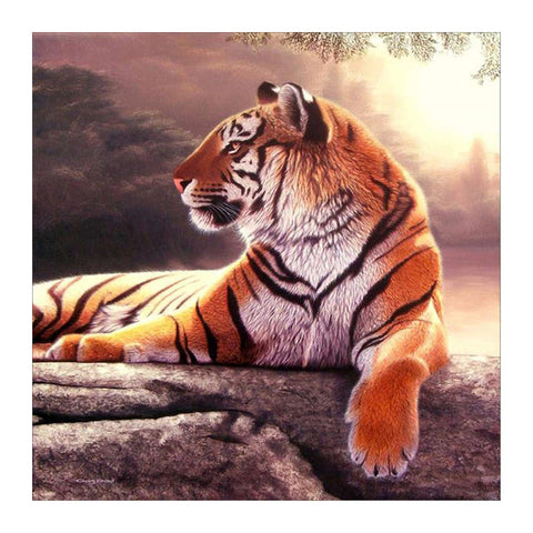 Diamond Painting-5D Full Round Drill Tiger