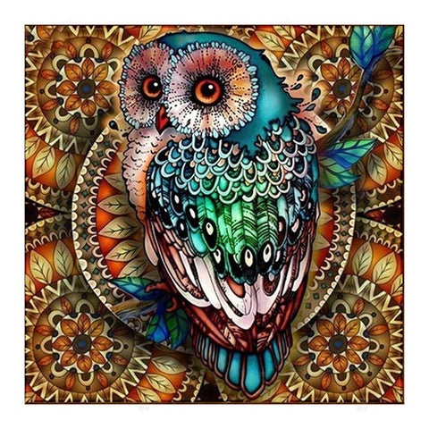 Diamond Painting-5D Full Round Drill Pretty Owl