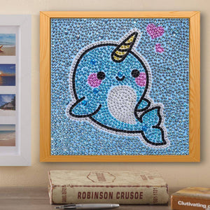 Diamond Painting-Special Shaped Drill Cute Whale