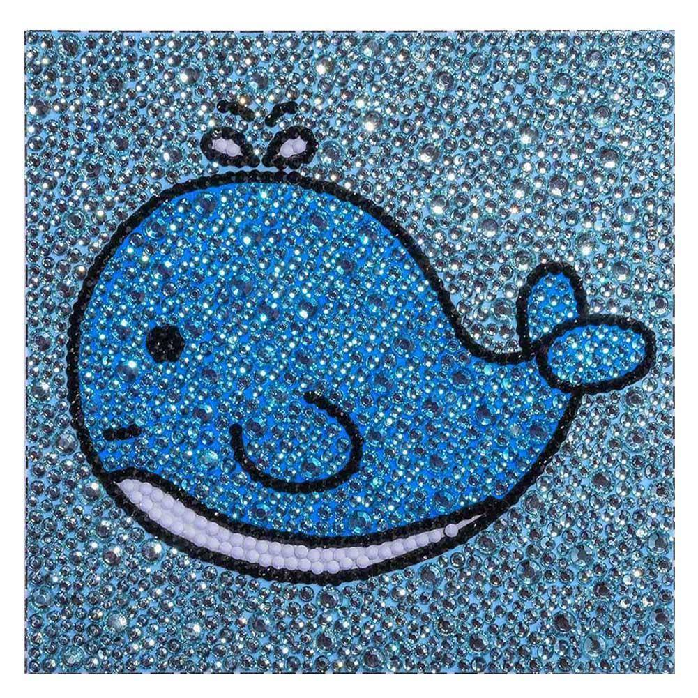 Diamond Painting-DIY Crystal Rhinestone Dolphin