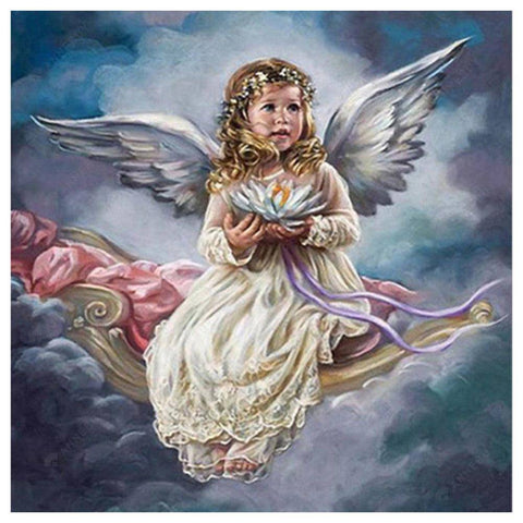 Diamond Painting-5D Full Drill Baby Angel