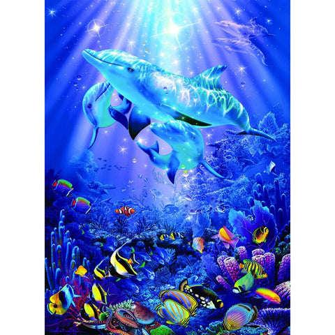 Diamond Painting-5D Full Square Drill Dolphin
