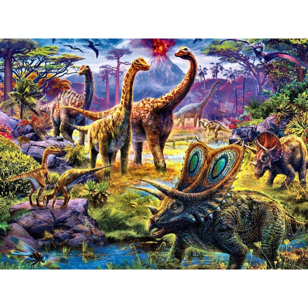 Diamond Painting-5D Full Square Drill Dinosaurs