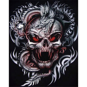 Diamond Painting-5D Full Round Drill Novelty Skull