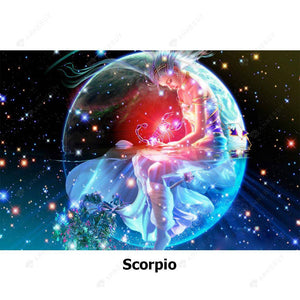 Diamond Painting-5D Full Round Drill Constellation Scorpio