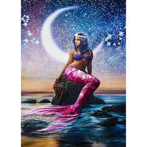 Diamond Painting-5D Full Round Drill Mermaid