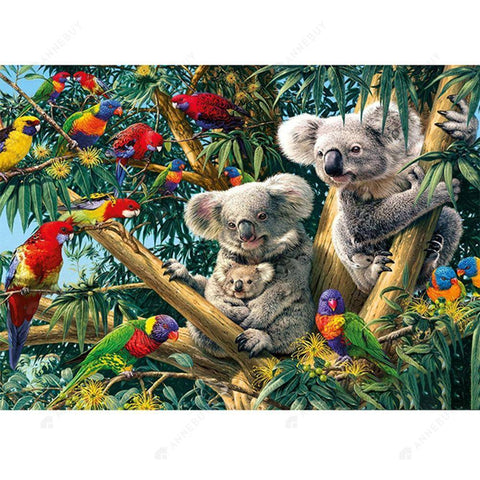 Diamond Painting-DIY Partial Drill Round Beads Koala