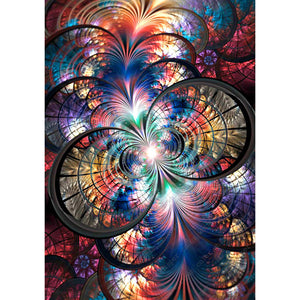 Diamond Painting-5D Full Round Drill Abstract Flower