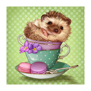 Diamond Painting-5D Full Round Drill Cute Hedgehog
