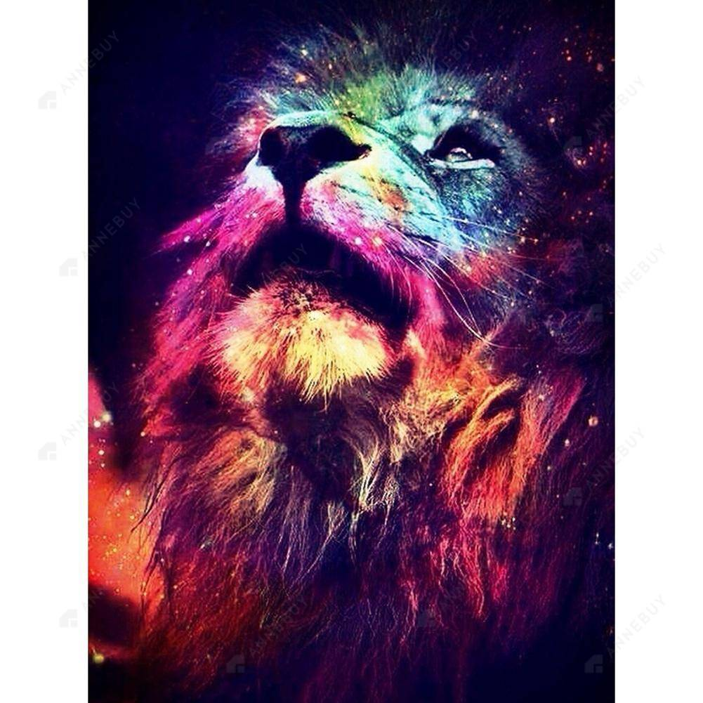 Diamond Painting-5D Full Square Drill Novelty Lion