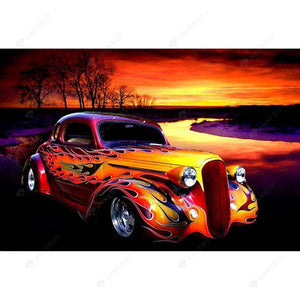 Diamond Painting-5D Full Square Drill Cartoon Car