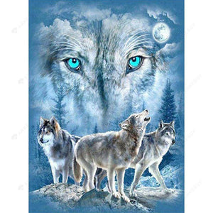 Diamond Painting-5D Full Square Drill Snow Wolf