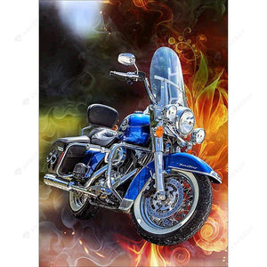 Diamond Painting-5D DIY Full Round Drill Motorcycle