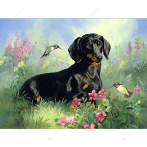 Diamond Painting-5D DIY Partial Round Drill Dog