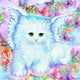 Diamond Painting-DIY Full Round Drill Cute Cat