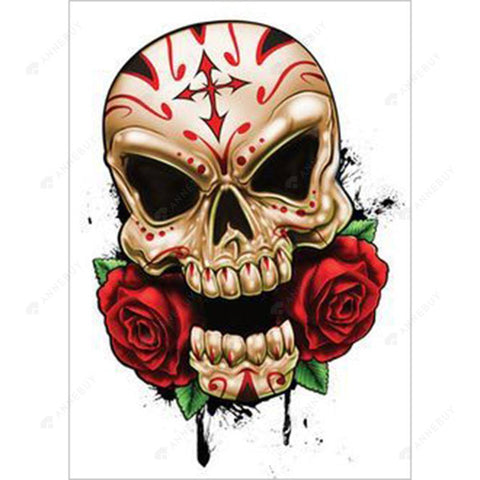 Diamond Painting-DIY Full Round Drill Skull Rose