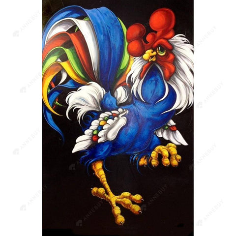 Diamond Painting-DIY Full Round Drill Cartoon Chicken