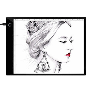 A4 Digital Graphics Tablet LED Drawing Board Light Box Tracing Copy Pad